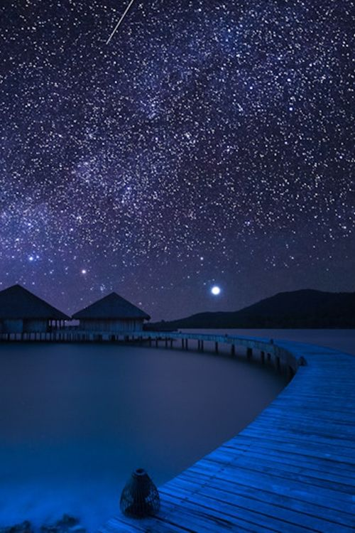 Beautiful night sky. Song Saa Island, #Cambodia #travel #vacation