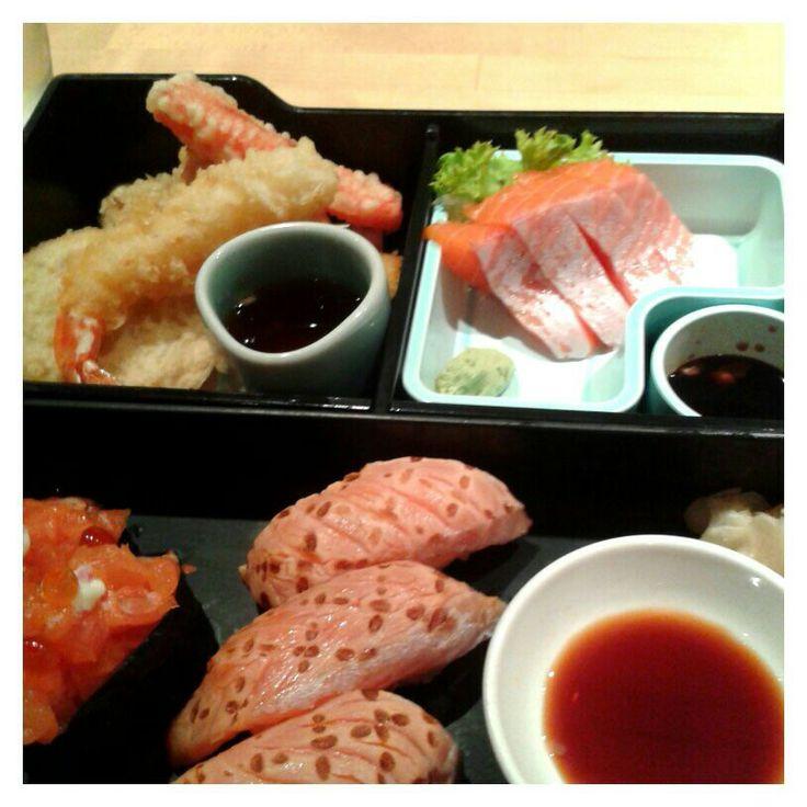 Salmon lover bento. Masuya, Sydney