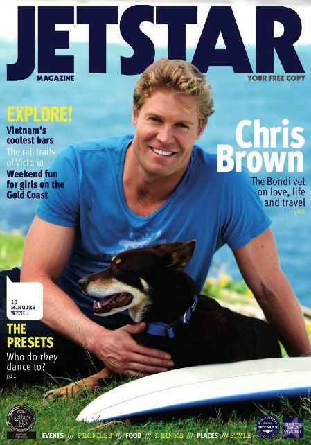 Dr. Chris Brown is featured on this month's Jetstar Magazine.