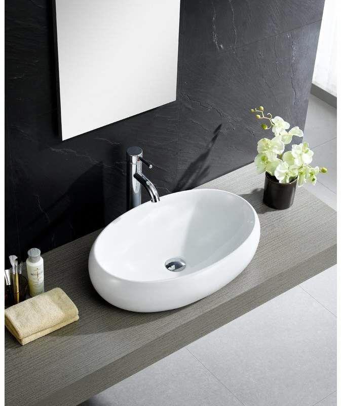 Modern Ceramic Oval Vessel Bathroom Sink In 2020 Sink White Vessel Sink Decor Interior Design