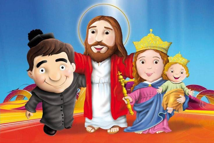 Don Bosco, con sus mejores amigos Jesús y María