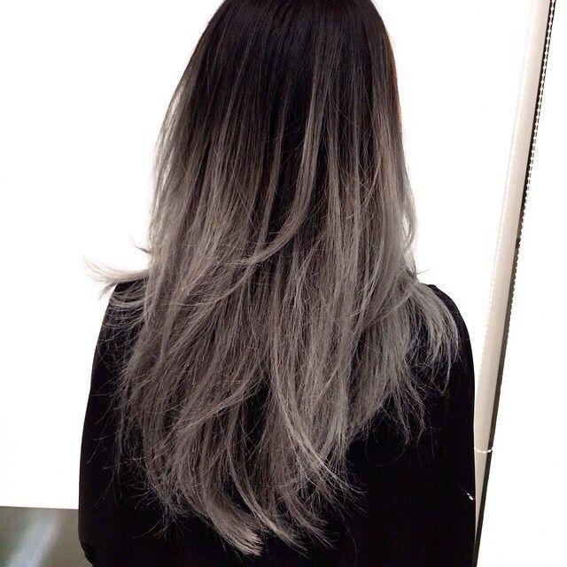 Dark roots ash gray
