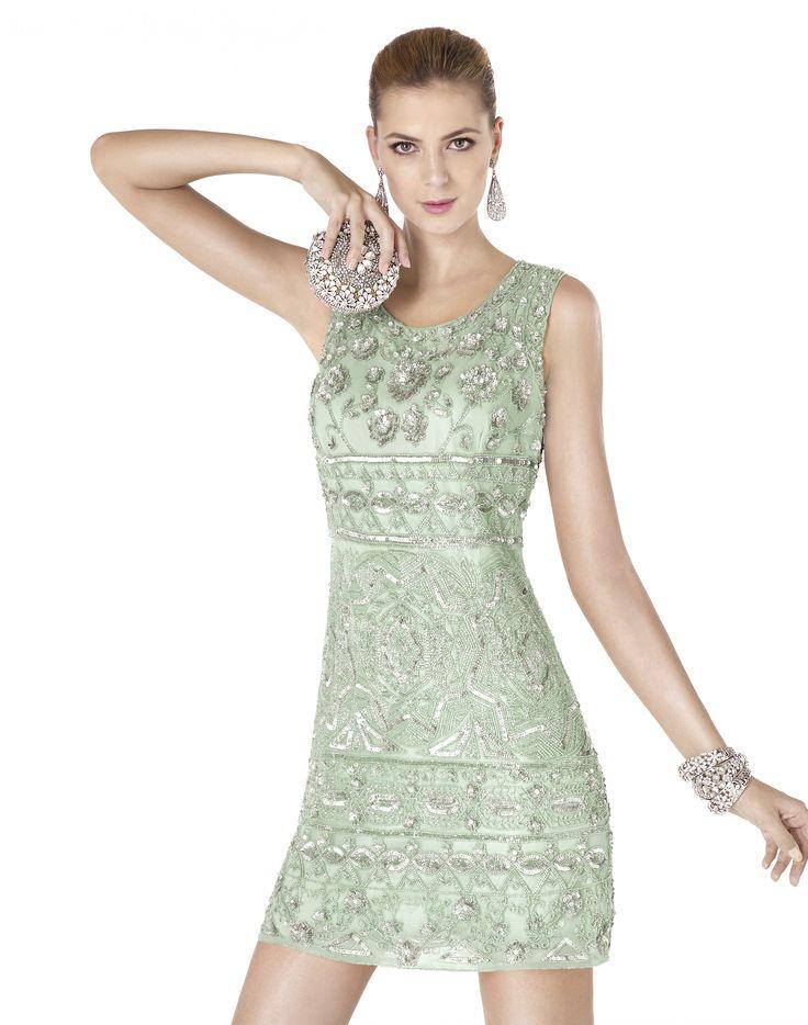 Robe de soiree vert pistache