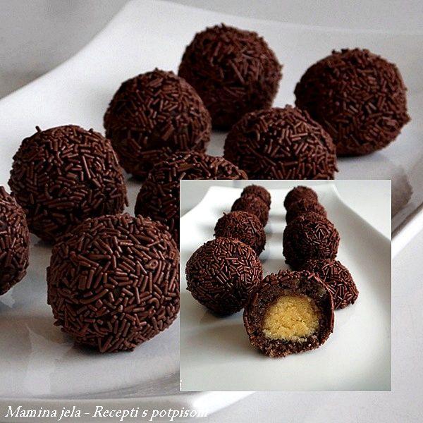 SASTOJCI   250 g. mlevenih oraha  200 g. čokolade za kuva...