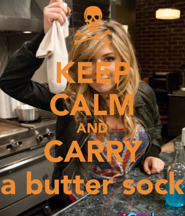 Hahaha! I like it when she carries a butter-sock, It makes her so violent