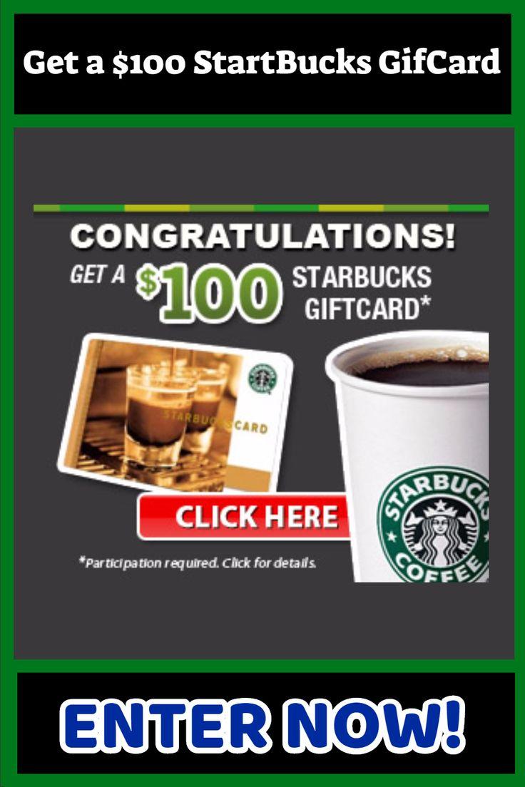Get a 100 startbucks gifcard in 2021 free starbucks