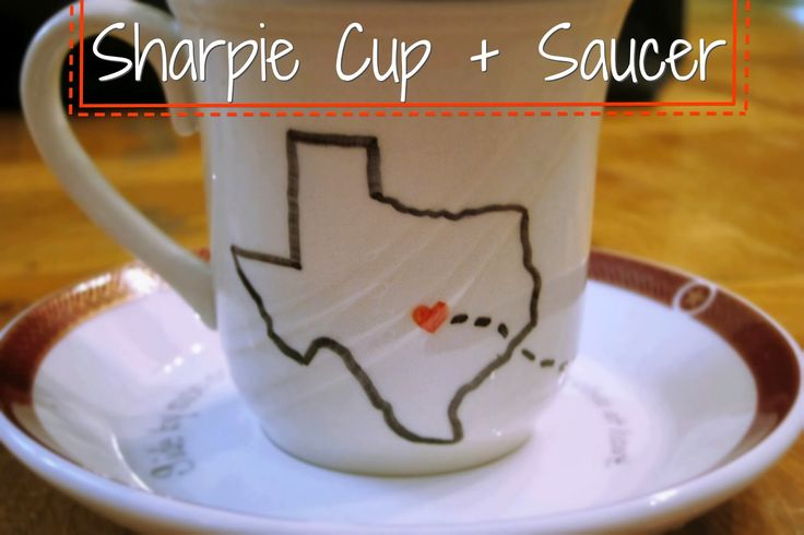 The Realistic Organizer: DIY Sharpie Cup and Saucer