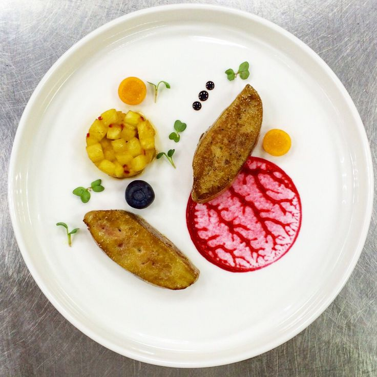 Foie gras with pineapple salsa