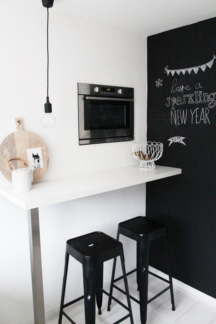 Comptoir Cuisine En Noir Et Blanc Kitchen Bar Black And White Suspension