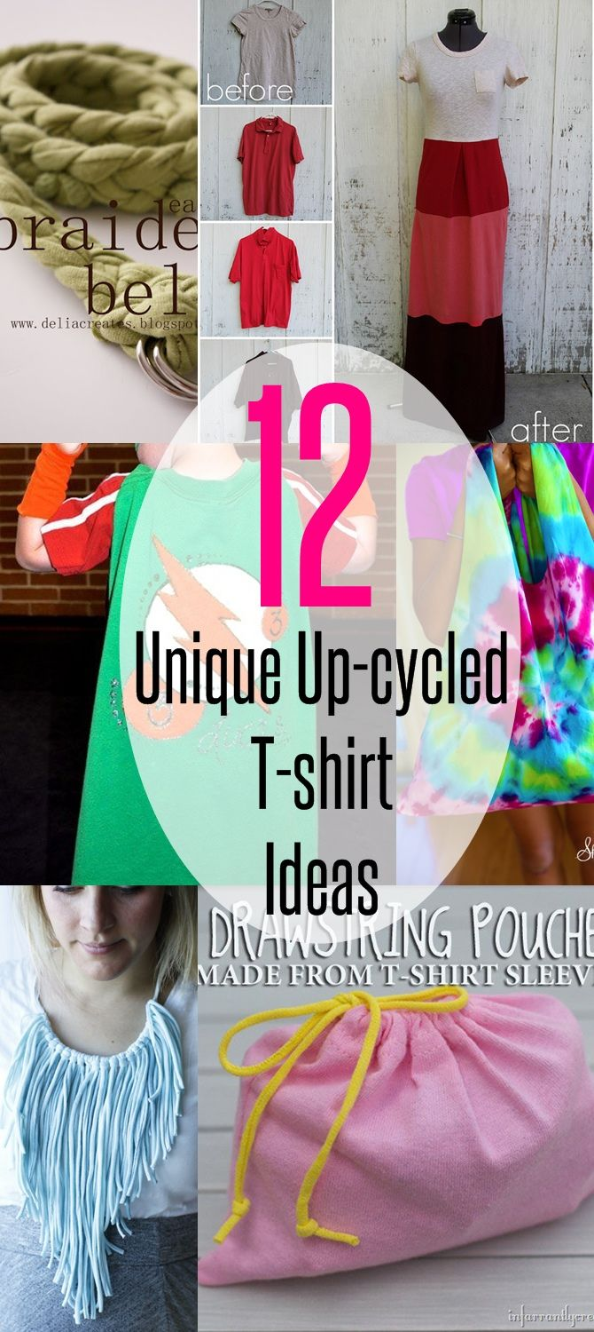 12 unique upcycled T-shirt ideas | upcycle tshirts | diy t shirt | beginner sewing