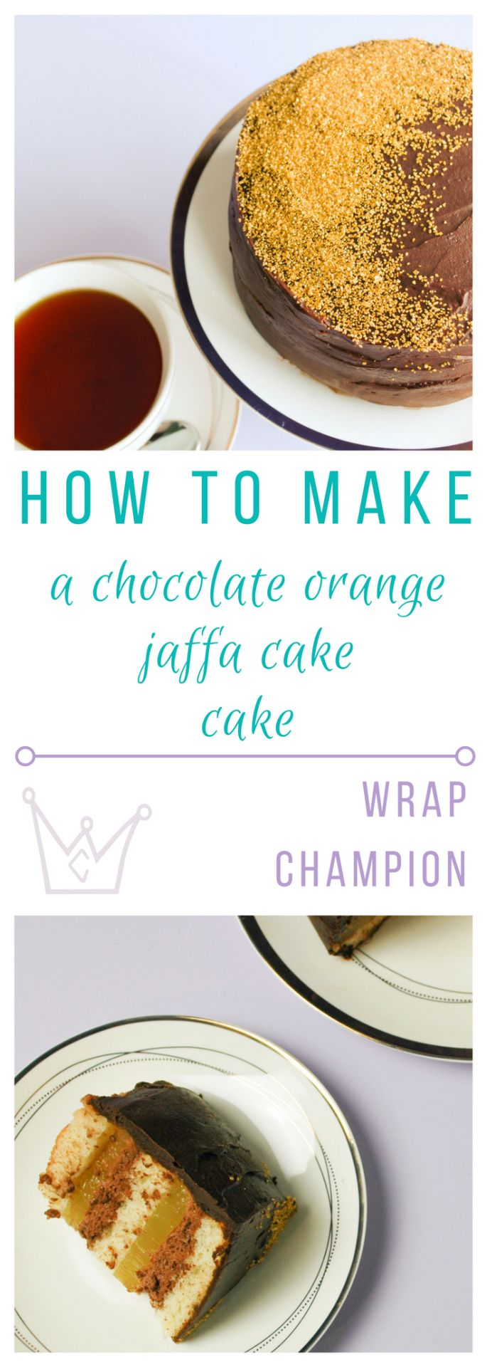 Jaffa Cake Cake Recipe - step by step instructions to make this awesome cake with genoise sponge, homemade orange jelly and from scratch chocolate mousse. Lastly, we cover the whole thing in a delicious chocolate ganache layer. I won't judge if you eat the whole thing
