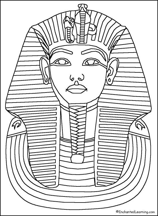 black and white map of ancient egypt for kids | Ancient Egypt Coloring Pages
