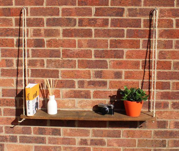 Reclaimed Pallet Wood Hanging Shelf Handmade/Shelves/Rustic/Furniture