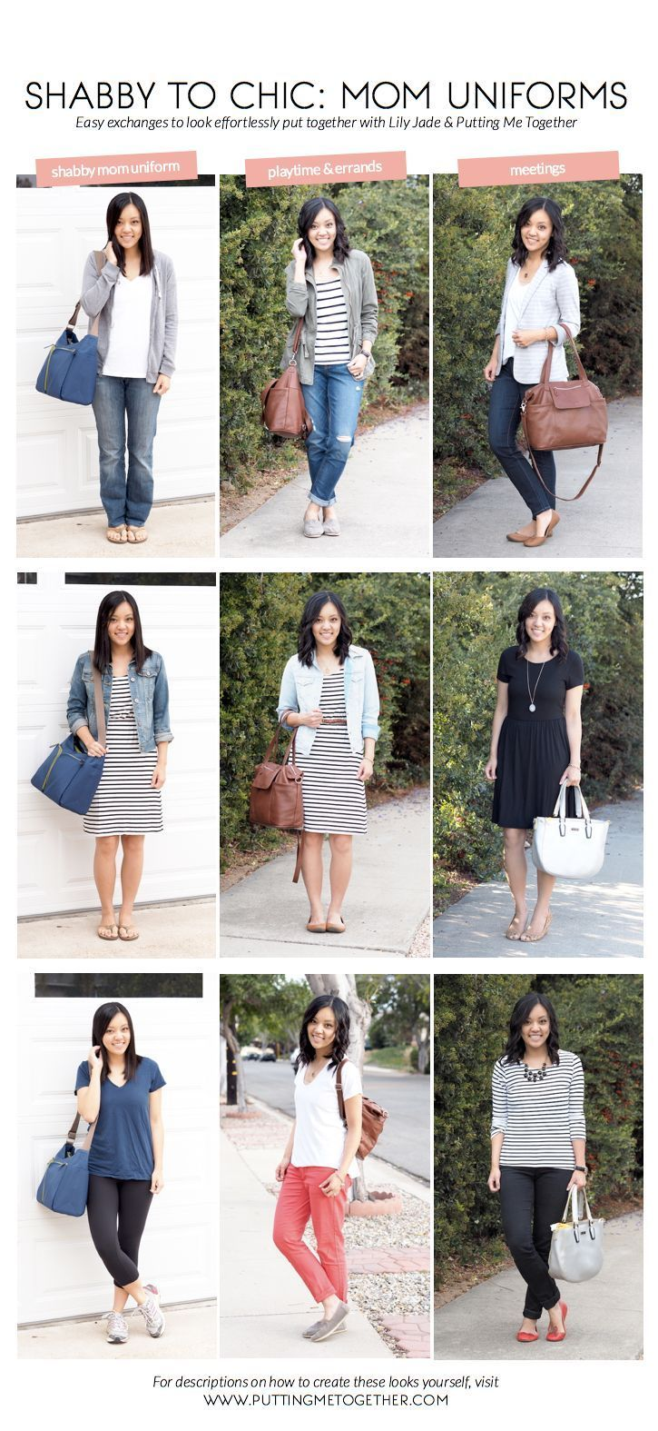 Style for over 35 ~ Better Mom Uniforms | Really easy tips to look more put together.