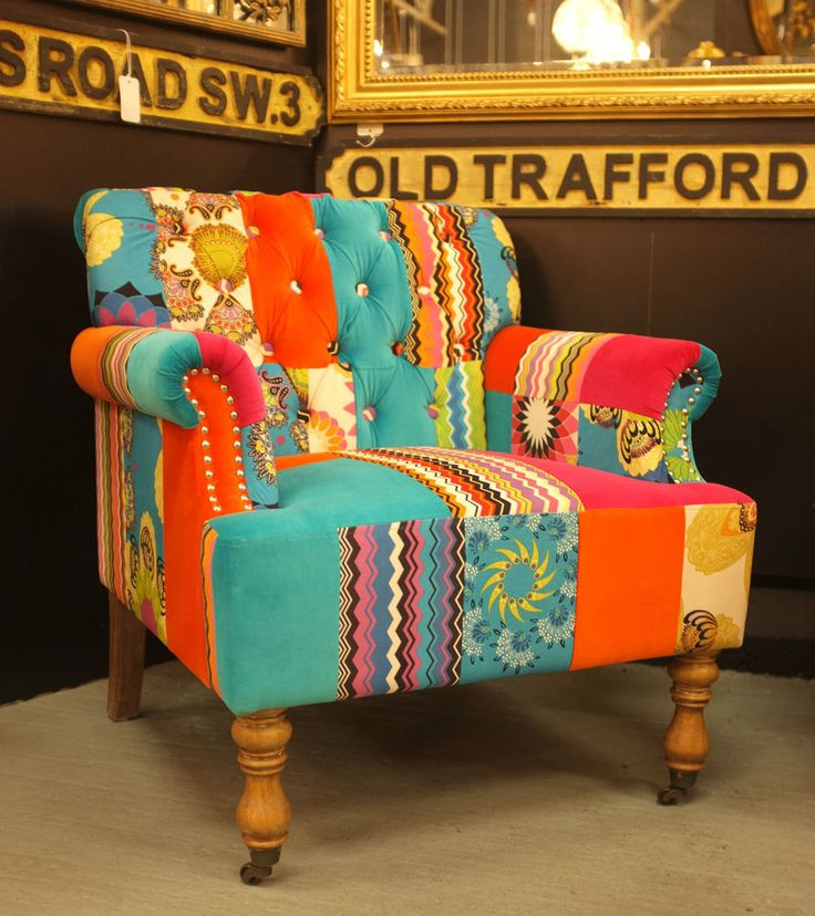 246 best patchwork sofa / chair images on pinterest | armchairs