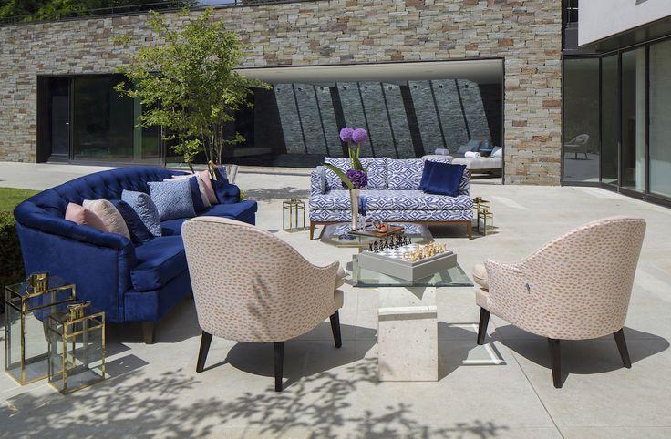 Coco Wolf outdoor furniture in Perennials Fabrics