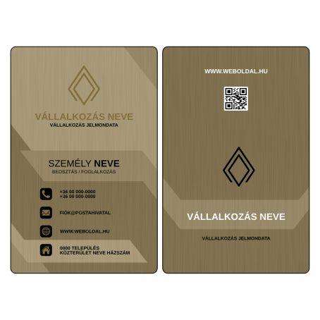 Üzleti névjegykártya tervek (álló elrendezés) Arany / Fekete