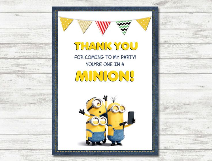 Minions Thank You Cards, Minions Party, Minions Printable Thank You Cards by Printerama on Etsy https://www.etsy.com/listing/257333471/minions-thank-you-cards-minions-party