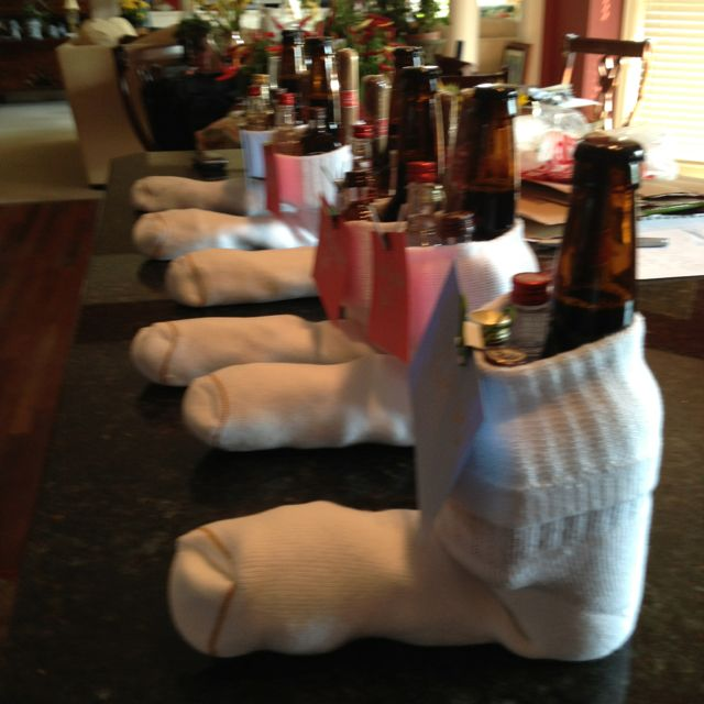 Bachelor party gift ....a cure for cold feet! http://www.mybigdaycompany.com/bachelorbachelorette-party.html