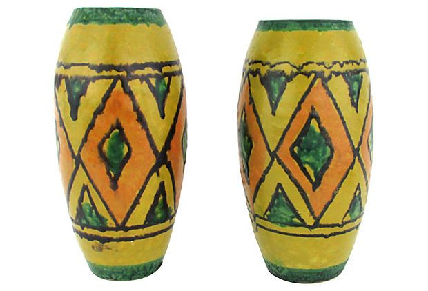 One Kings Lane - Italian Midcentury Vases, Pair