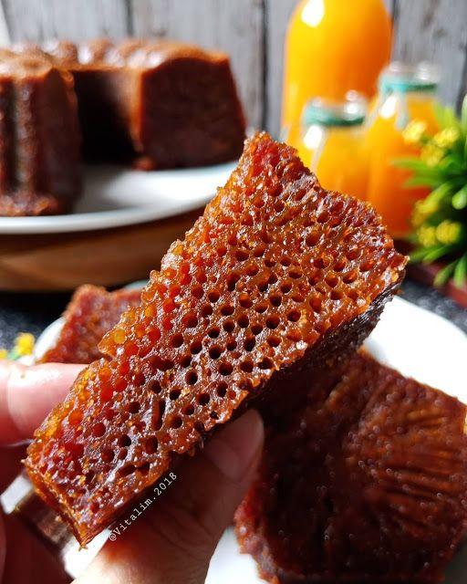 Resep Bolu Karamel Sarang Semut By Vitakwee Di 2020 Resep Semut Karamel
