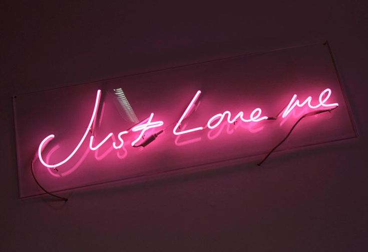 Just Love Me by Tracy Emin (1998)