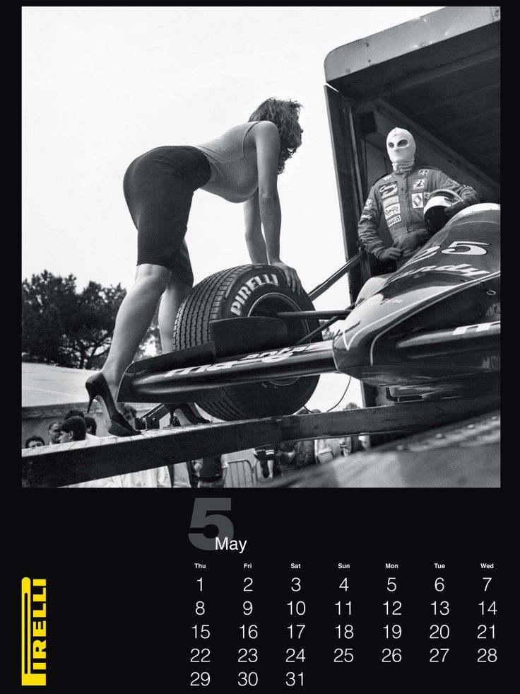 A shot from the May 2014 edition of the Pirelli calendar which is celebrating the work of the late photographer Helmut Newton