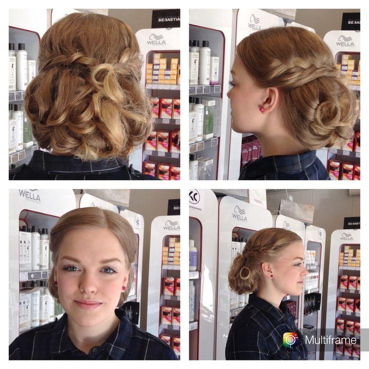 #longhair #hairdo #weddinghair #curlyhair #brownhair made By Sirpa Polvi