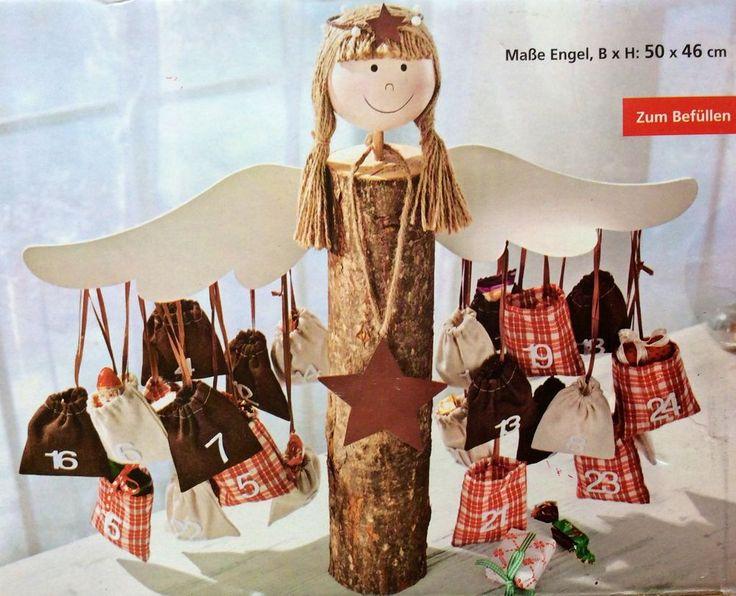 Engel Adventskalender NEU zum selberbefüllen grosser Holzengel in Möbel & Wohnen, Feste & Besondere Anlässe, Jahreszeitliche Dekoration | eBay
