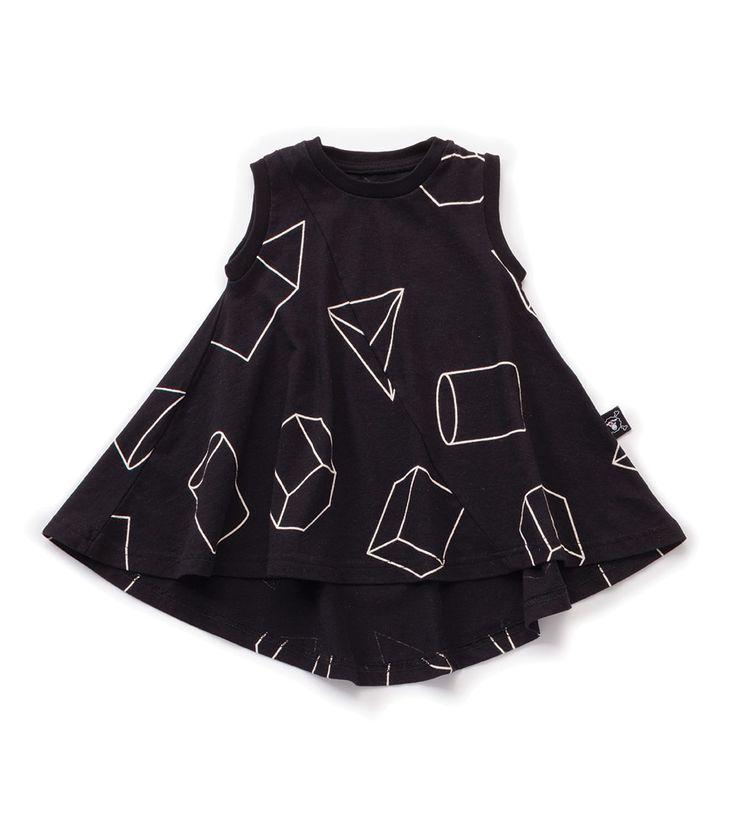 Nununu Geometric 360 Tank Dress Black