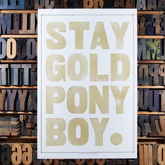Stay Gold Pony Boy