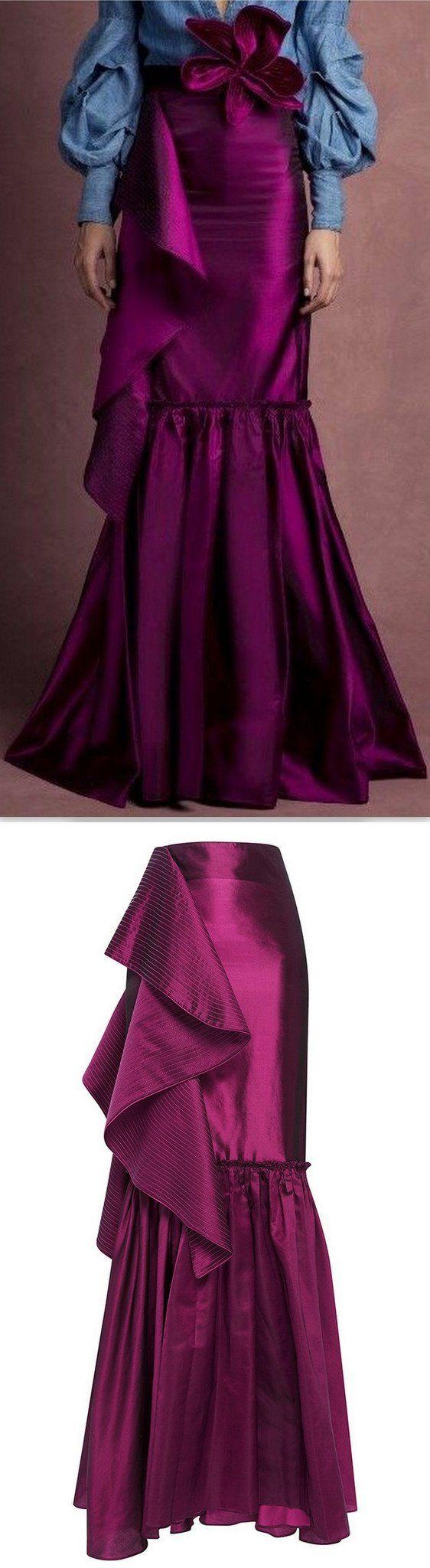 'Anna Karenina' Fluted Skirt