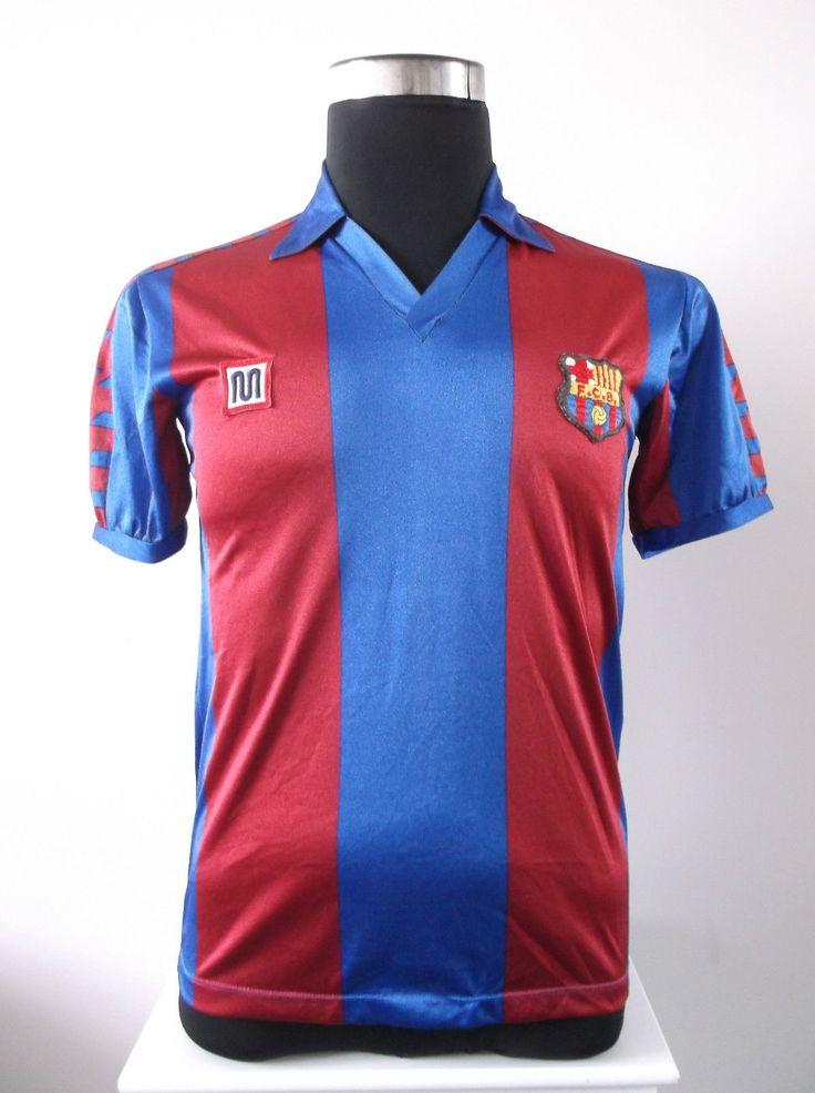 Barcelona Home Football Shirt Jersey (S) 1984-1989