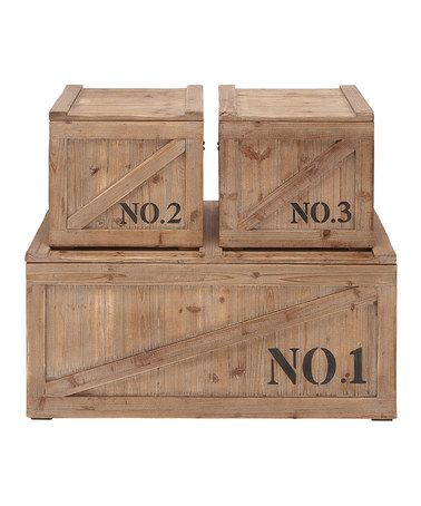 Vintage Shipping Crate Trunk Set