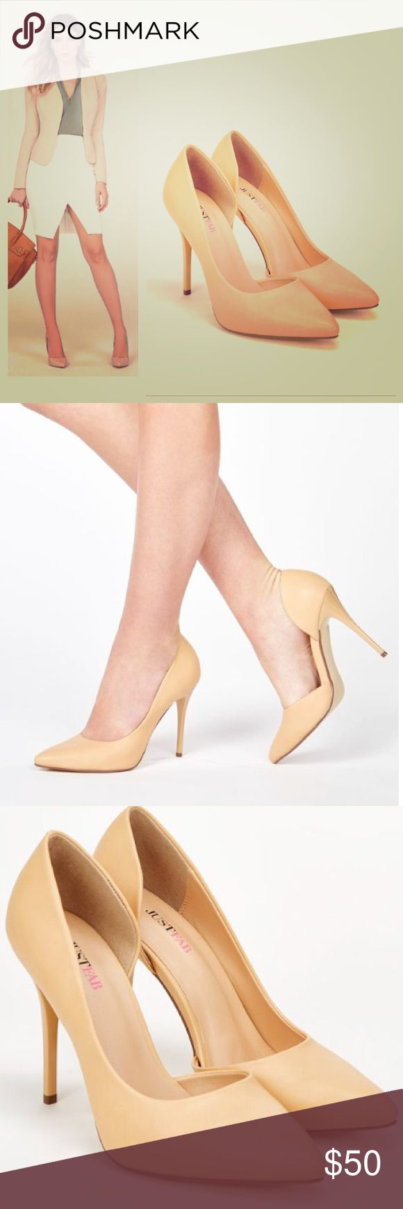 """Classic nude pump Thinking spring. Get this classic wardrobe staple early and get a jump on spring. Featuring a sultry lacquered heel 👠 I listed them as the size they measure not the size on the box. They run big, a half a size to be exact. The 7.5 measures exactly 9.5"""" which translates to an 8 and the 8s measures 10"""" which translates to 8.5 on the American women's size chart. Details Approx. Heel Height: 4.25"""" Approx. Platform Height: N/A Approx. Calf Circumference: N/A Synthetic Upper Man…"""