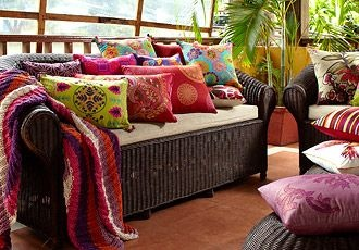 gorgeous cushions and colour. This is the India style I've been looking to do.  :)