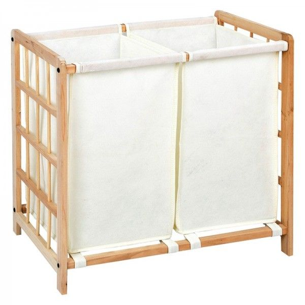 Section wooden laundry hamper with no wheels bedroom pinterest laundry hamper hampers and - Narrow clothes hamper ...