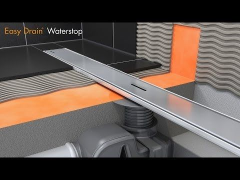 Linear shower drain installation – Easy Drain Waterstop (English) - YouTube