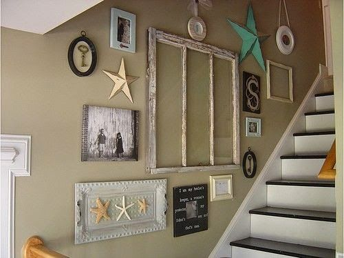 Creative staircase wall decorating ideas art frames - How to decorate a staircase ...