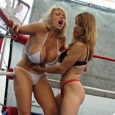 In thong leotards7 Bbw catfight