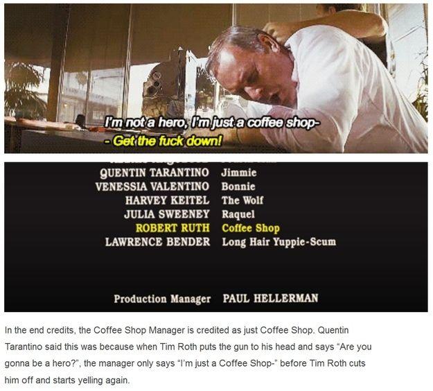 Quentin Tarantino's dad joke in Pulp Fiction