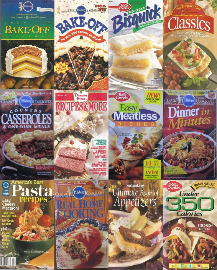 12+Magazine+Cook+Booklets+Pillsbury+Bisquick+Betty+Crocker+Duncan+Hines