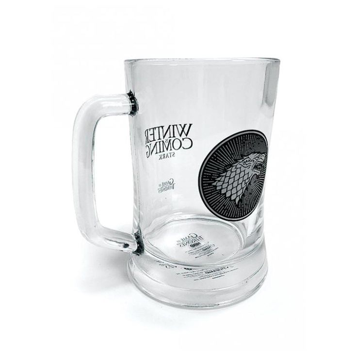 Official Game of Thrones House Stark Glass Stein -  £10.99