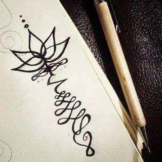 unalome drawing - Google Search | Tattoo Inspirations ...