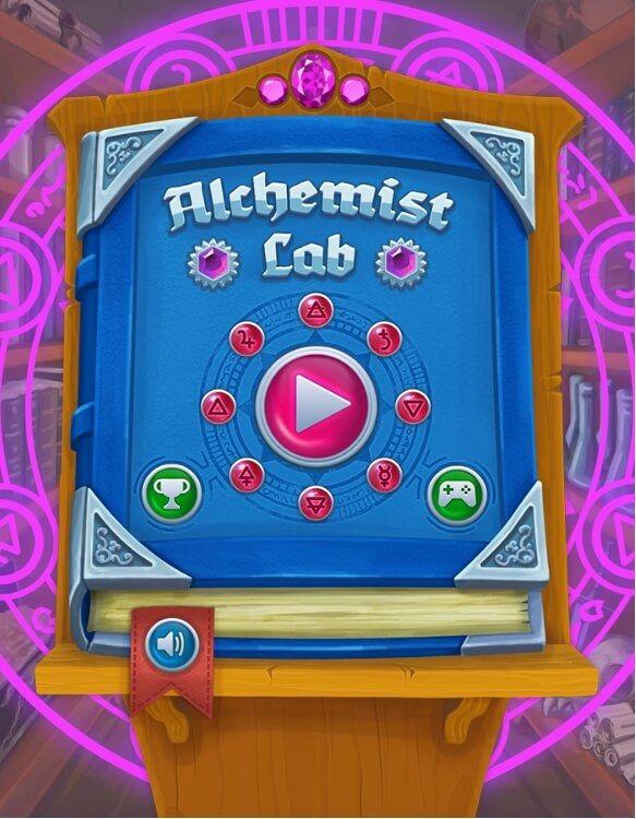 Alchemist Lab       Favori 1 Star2 Stars3 Stars4 Stars5 Stars6 Stars7 Stars8 Stars9 Stars10 Stars (1 votes, moyenne: 8,00 / 10) Alchemist Lab est un superbe jeu gratuit de match-3. Expérimentez, explorez et convertissez les métaux en la pierre philosophale! Associez une chaîne d'éléments mystiques pour activer les bonus magiques et découvrir l'élixir universel dans le laboratoire d'alchimiste!