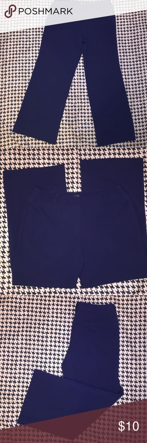 Women's Navy Blue Career Pants-12 Ladies Petite Women's Navy Blue Dress Pants. 63% Polyester,  32% Rayon, 5% Spandex. George Pants Trousers