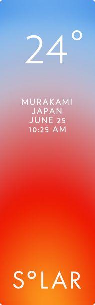 村上市 weather has never been cooler. Solar for iOS.