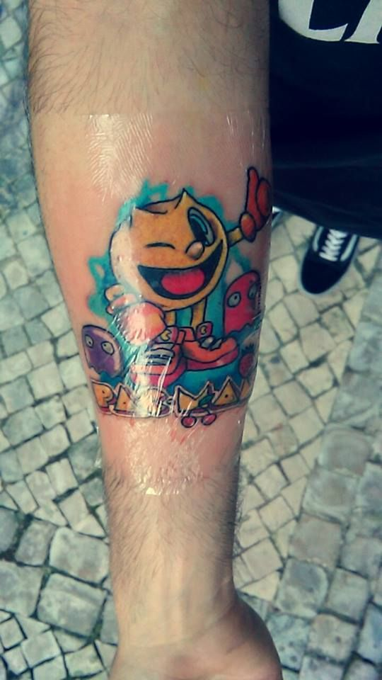 Tattooed by Barão David! facebook.com/baraotattoo #pacman tattoo #pacman #tattoo #barão david #portugal #leiria