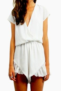 Lioness broken hearts playsuit with frill short $59.95 from www.threadsandstyle.com.au