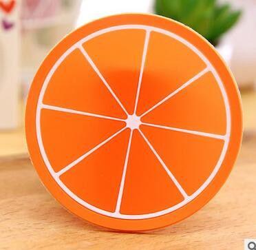 1pcs Round Anti slip Fruit Baby Cup Bottle Bowl Insulated Mat Placemat Lemon Orange Kiwi Kids Dinner Accessory